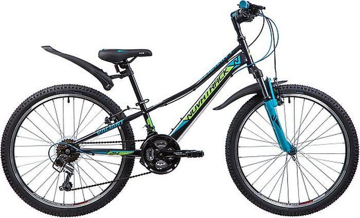 Велосипед Novatrack Valiant, черный, 24, рама 10 велосипед детский novatrack action цвет черный 24