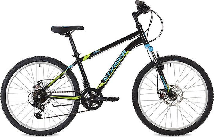 """Велосипед Stinger Caiman D, черный, 24"""", рама 12"""""""