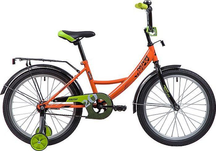 Велосипед Novatrack Vector, оранжевый, 20 велосипед novatrack vector 12 синий