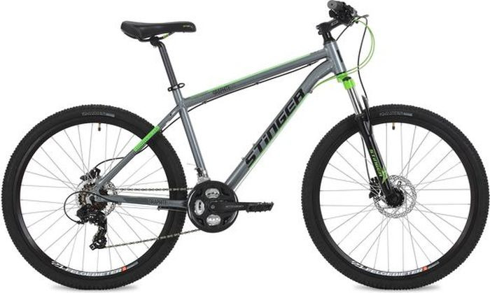 Велосипед Stinger Graphite Evo, серый, 27,5, рама 18