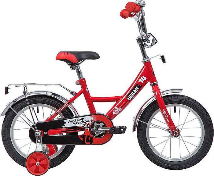 Велосипед Novatrack Urban, красный, 14 велосипед для малышей 3 5 лет 14 500 робот