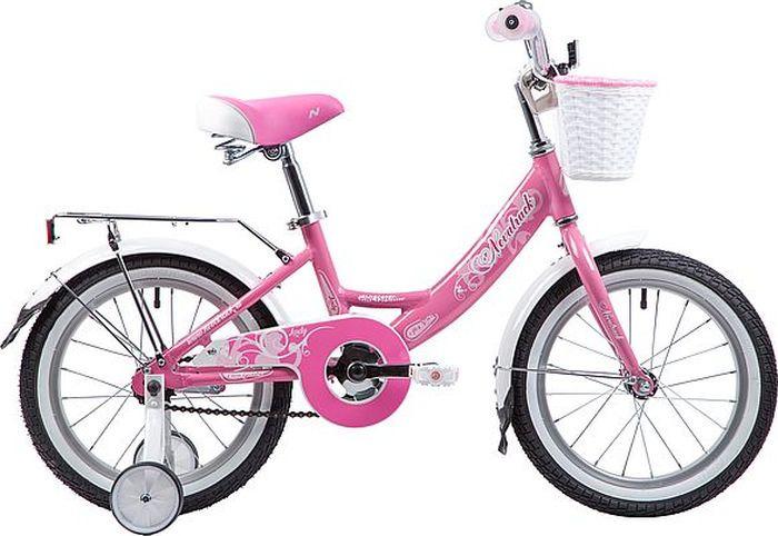 Велосипед Novatrack Girlish Line, розовый, 16