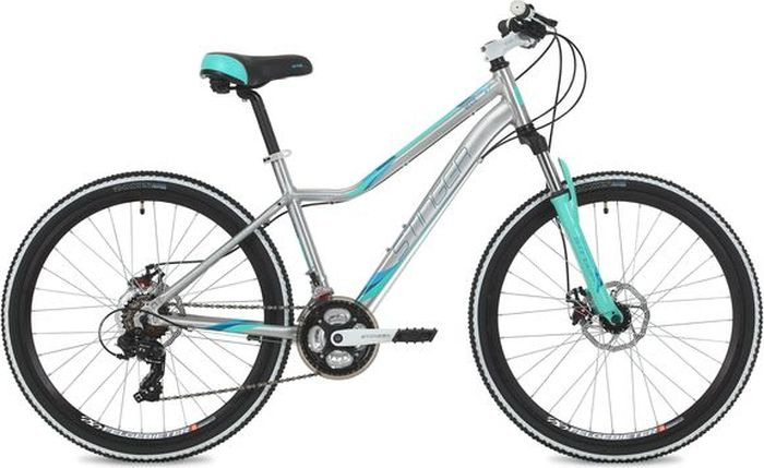 Велосипед Stinger Vesta Evo, серебристый, 26, рама 15 велосипед stark vesta 26 1 s 2018