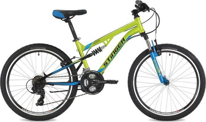 Велосипед Stinger Discovery, зеленый, 24, рама 14 велосипед stinger 24 highlander 14 серый 24 sfv hilander 14 gr8