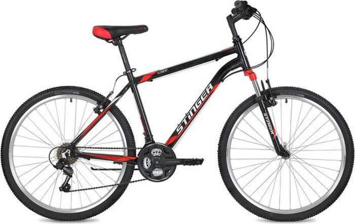Велосипед Stinger Element, черный, 26, рама 16 велосипед stinger 26 ahv elem 20 wh7 26 element 20 белый