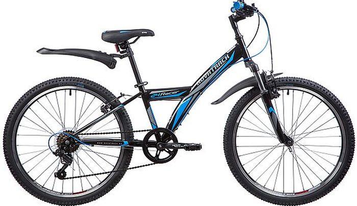 Велосипед Novatrack Racer, черный, 24, рама 12 novatrack novatrack велосипед action 24 рама 12 синий
