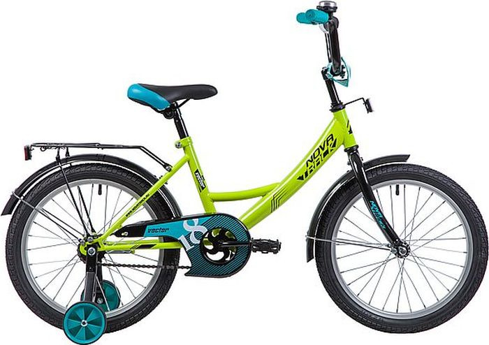 Велосипед Novatrack Vector, салатовый, 18 велосипед novatrack vector 12 зелёный