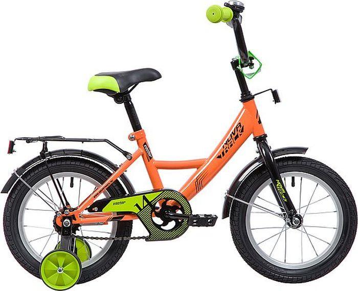 Велосипед Novatrack Vector, оранжевый, 14 велосипед novatrack vector 12 синий