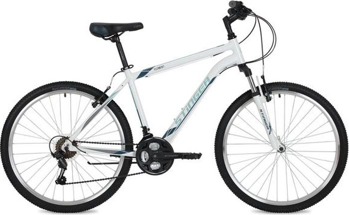 Велосипед Stinger Element, белый, 26, рама 14 велосипед stinger 26 ahv elem 20 wh7 26 element 20 белый