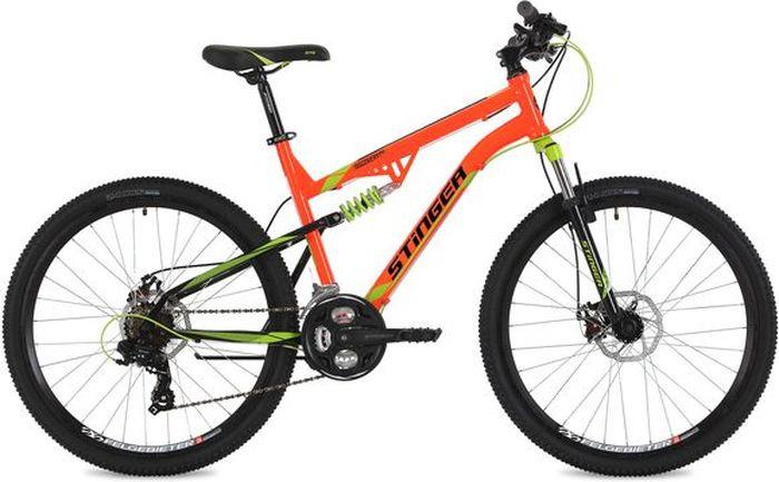 Велосипед Stinger Discovery D, оранжевый, 26, рама 16