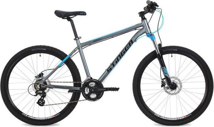 "Велосипед Stinger Graphite Pro, серый, 27,5"", рама 16"""