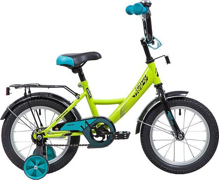 Велосипед Novatrack Vector, салатовый, 14 велосипед novatrack vector 12 синий
