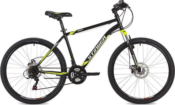 Велосипед Stinger Caiman D, черный, 26, рама 16