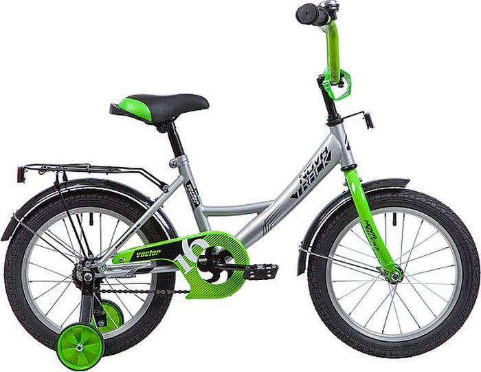 Велосипед Novatrack Vector, серебристый, 16 велосипед novatrack vector 12 синий