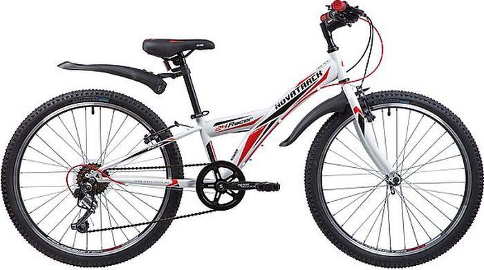 Фото - Велосипед Novatrack Racer, белый, 24, рама 10 велосипед novatrack racer черный 24 рама 10