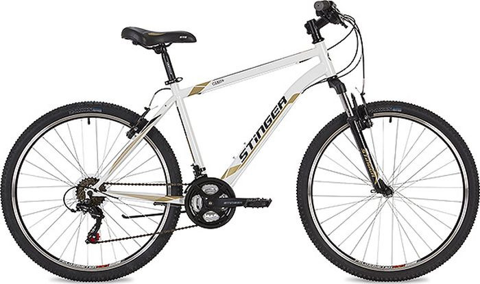 Велосипед Stinger Caiman, белый, 26, рама 14