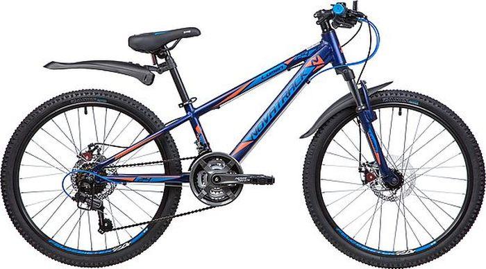 Велосипед Novatrack Lumen, синий, 24, рама 11 велосипед novatrack lumen синий 24 рама 13