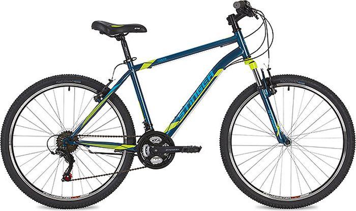 Велосипед Stinger Caiman, синий, 26, рама 20 велосипед stinger 26 ahv elem 20 wh7 26 element 20 белый