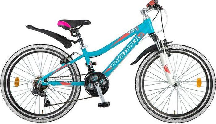 Велосипед Novatrack Novara, аквамарин, 24, рама 12