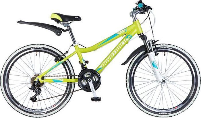 Велосипед Novatrack Novara, лаймовый, 24, рама 14
