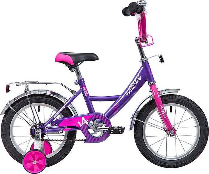 Велосипед Novatrack Vector, лиловый, 14 велосипед novatrack vector 12 синий
