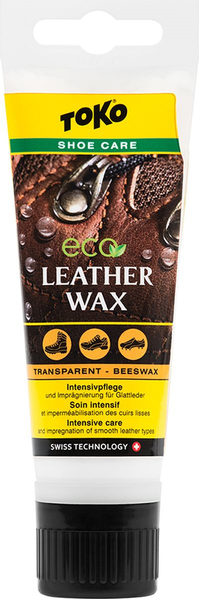 Крем Toko Eco Leather Wax Beeswax, для спортивной и туристической обуви, 75 мл