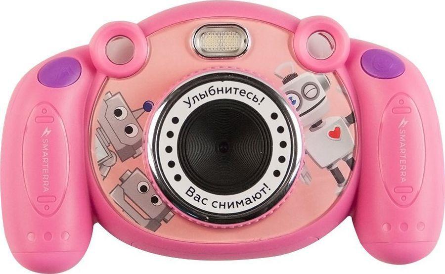 Компактный фотоаппарат Smarterra Mooviq, 24430, розовый цена и фото