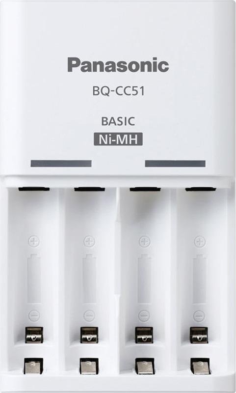 лучшая цена Зарядное устройство Panasonic Basic, BQ-CC51E, для 2 или 4 аккумуляторов типа АА/ААА Ni-MH