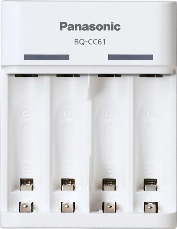 Зарядное устройство Panasonic Basic, BQ-CC61USB, для 2 или 4 аккумуляторов АА/ААА Ni-MH с USB-выходом