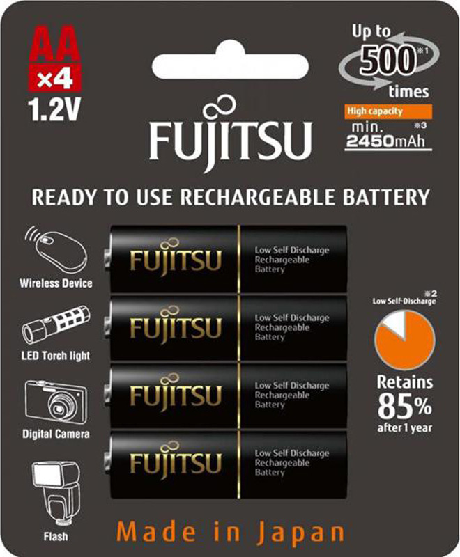 Аккумулятор Fujitsu, FDKB00006, тип АА, 2450 mAh, 4 шт
