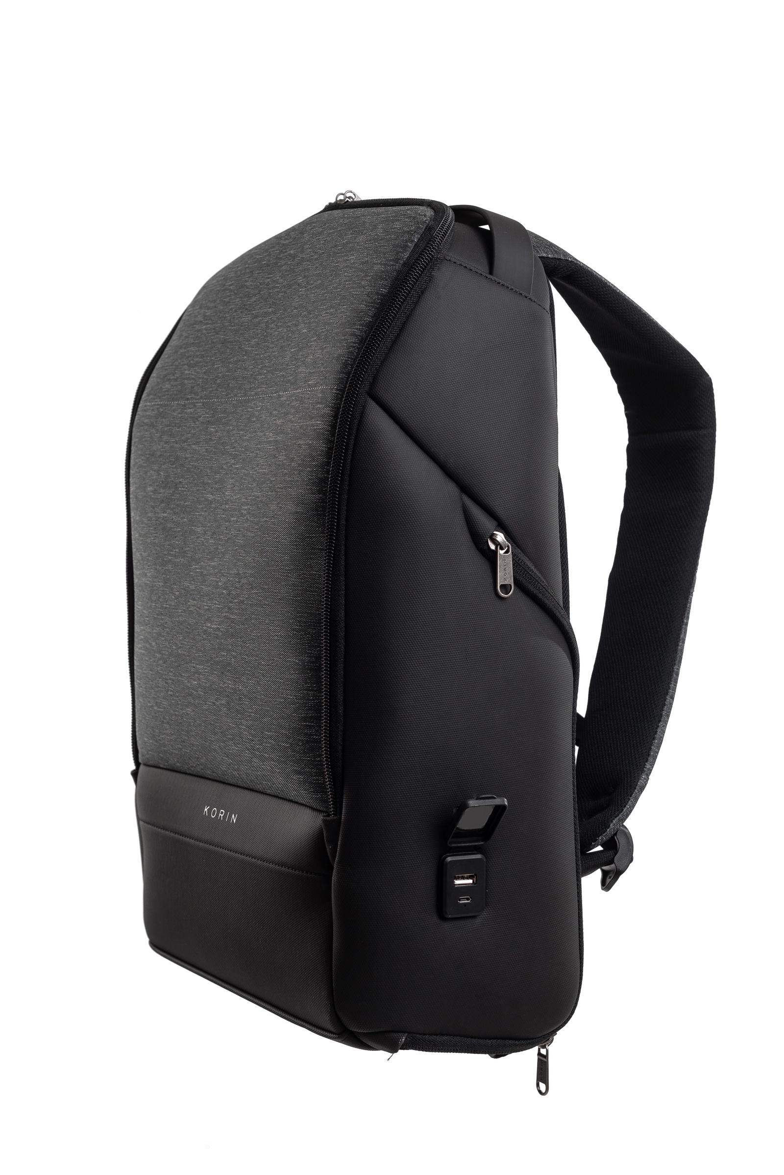 Рюкзак городской KORIN Design FlexPack Pro, темно-серый рюкзак korin design clickpack gray серый