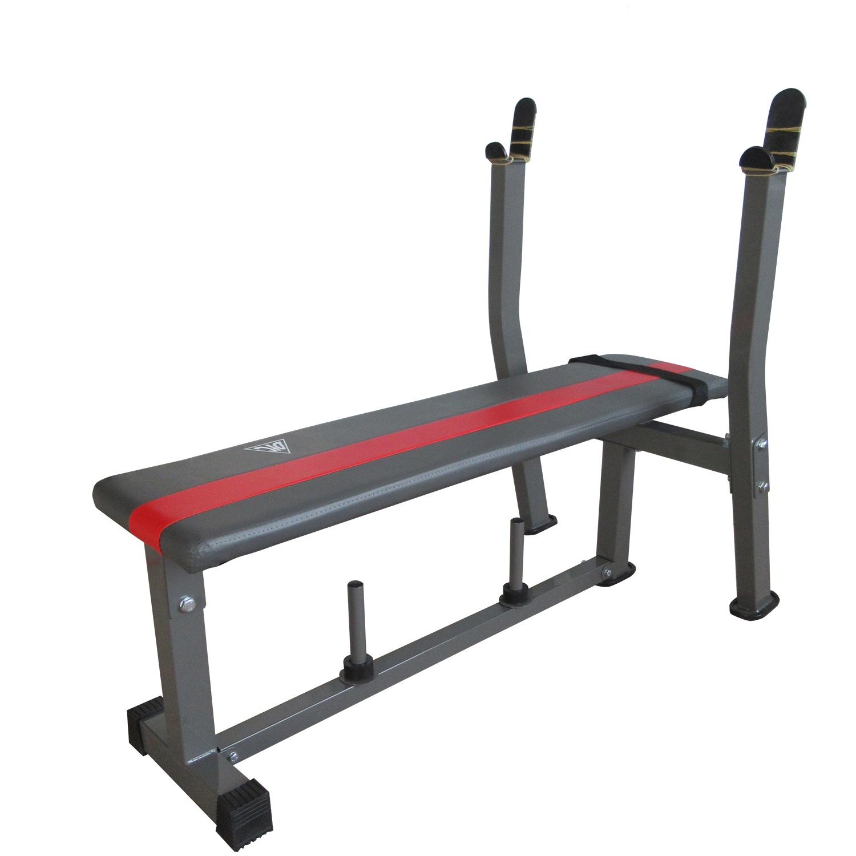 Силовая скамья DFC со стойками, красный, серый цена