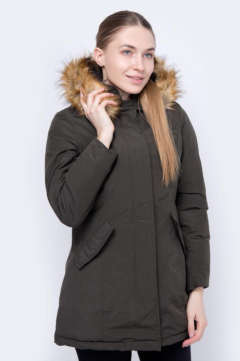 Куртка женская Trussardi, цвет: зеленый. 36S00166_Army Green. Размер S (42/44)36S00166_Army Green