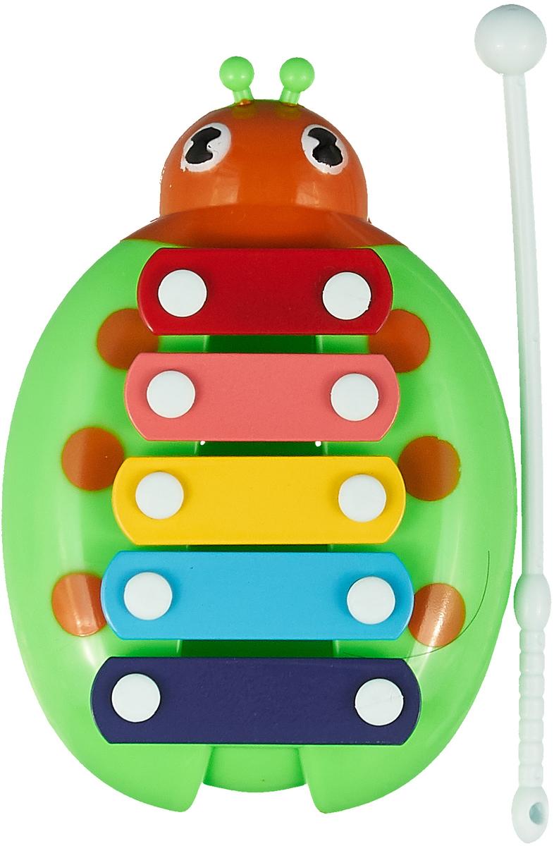 Ксилофон для малышей ABtoys, D-00053(WL-8999), зеленый, оранжевый