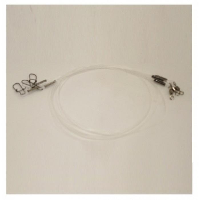 Набор поводков AGP флюрокарбон, прозрачный, белый