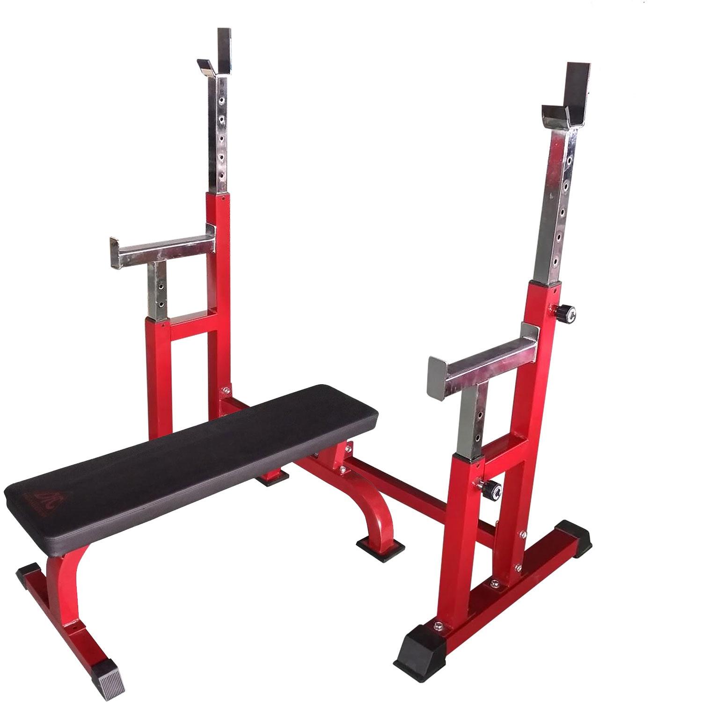 Силовая скамья DFC со стойками , красный, черный многофункциональная скамья со стойками muscle weight bench rho