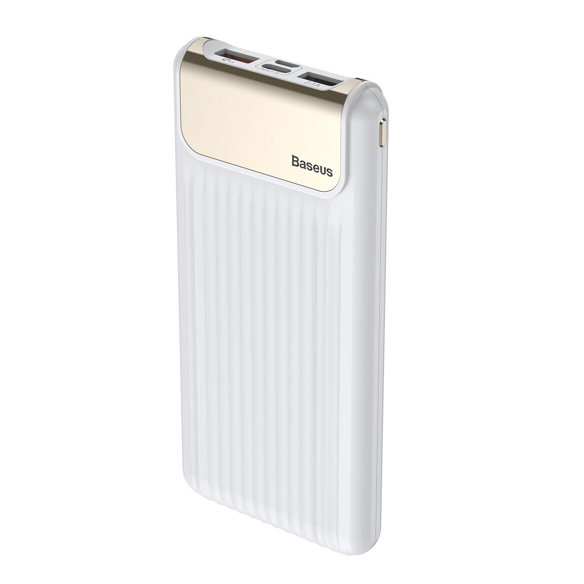 Внешний аккумулятор Baseus PPYZ-C02, белый внешний аккумулятор baseus 15609 белый