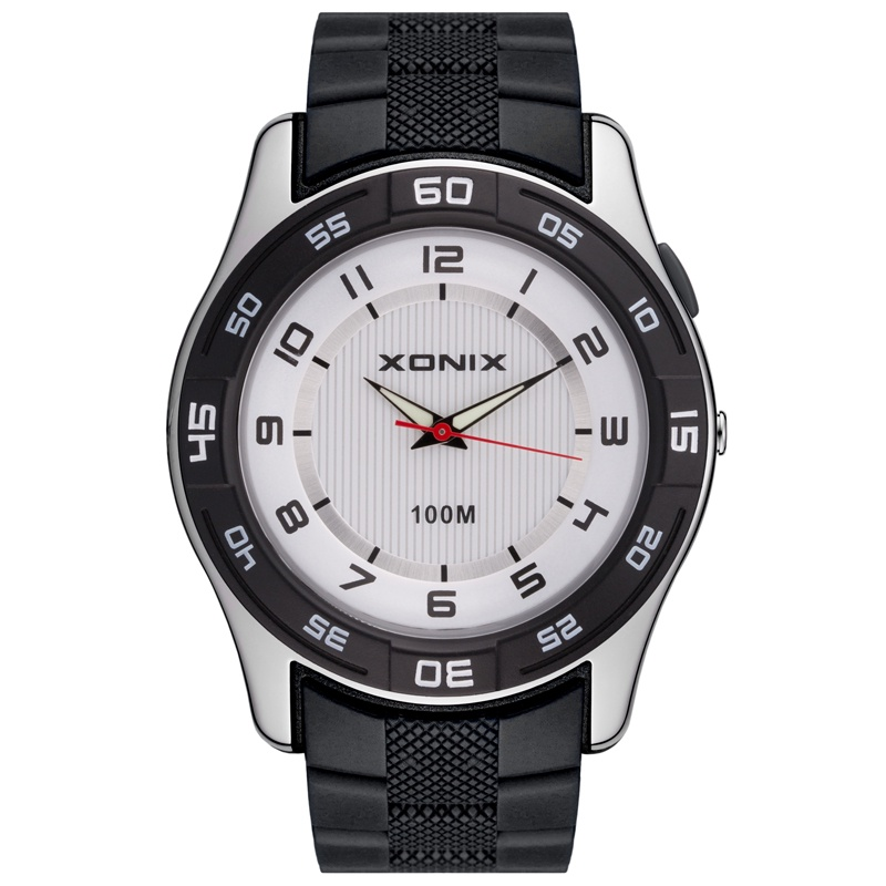 Часы XONIX наручные QF-002, серебристый, белый, серый