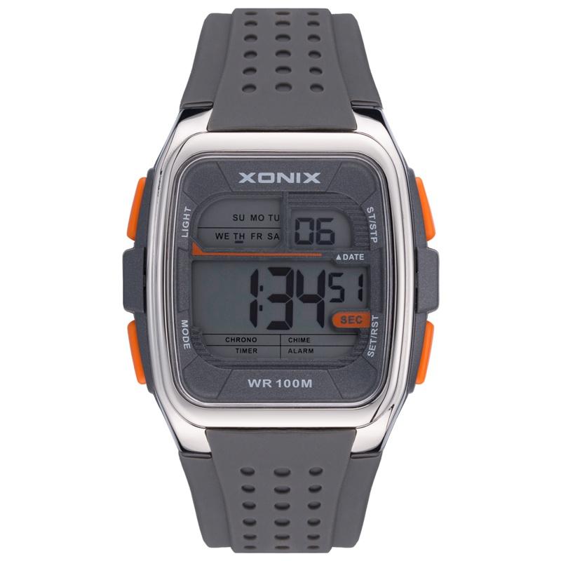 лучшая цена Часы XONIX Спортивные прямоугольные, серый