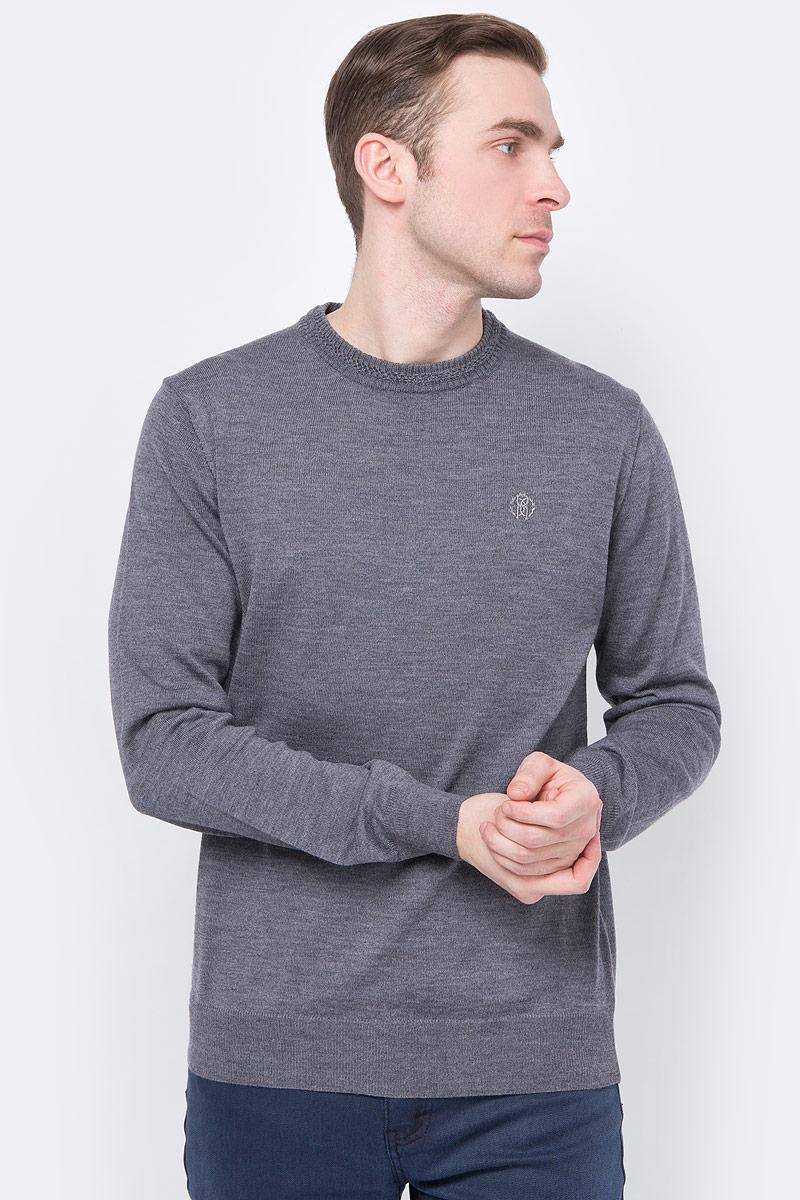 Пуловер мужской Roberto Cavalli, цвет: серый. ESM610MQ03005013_Grey. Размер XXL (54/56)ESM610MQ03005013_Grey