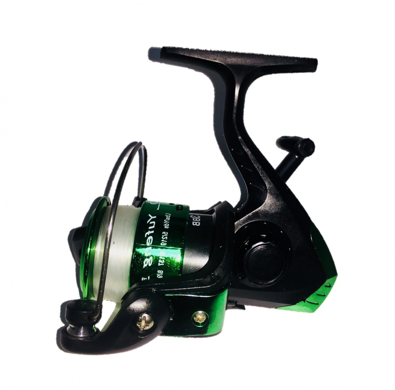 Катушка AGP WK 3, зеленый, темно-зеленый, светло-зеленый, черный