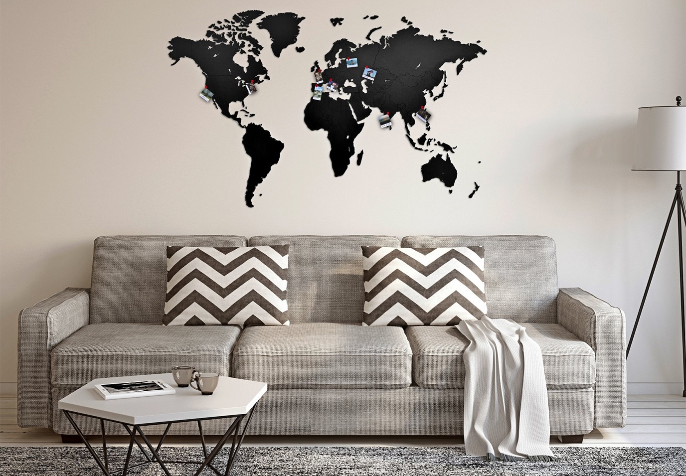 энергетика декор стены из черно-белых картинок дома