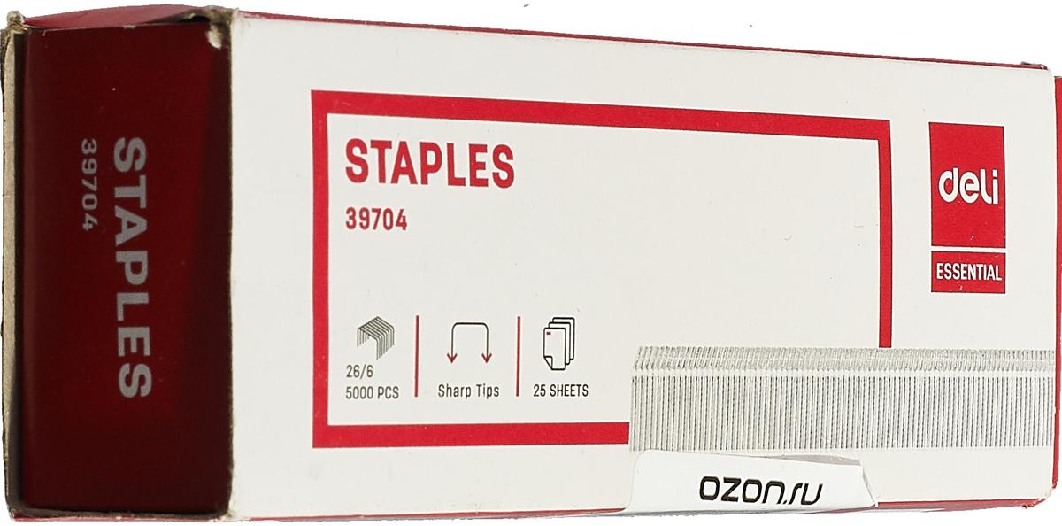 Deli Скобы для степлера №26/6 (5000 шт) скобы для степлера kwb 352 106