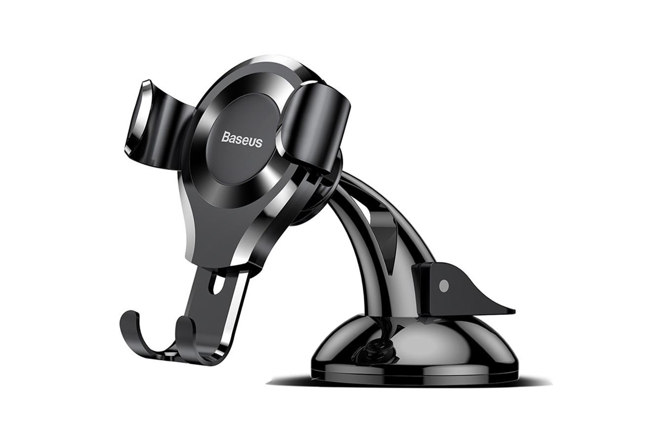 Держатель для телефона Baseus SUYL-XP01, черный автомобильный держатель для телефона на торпеду baseus mouth car mount черный sudz 01
