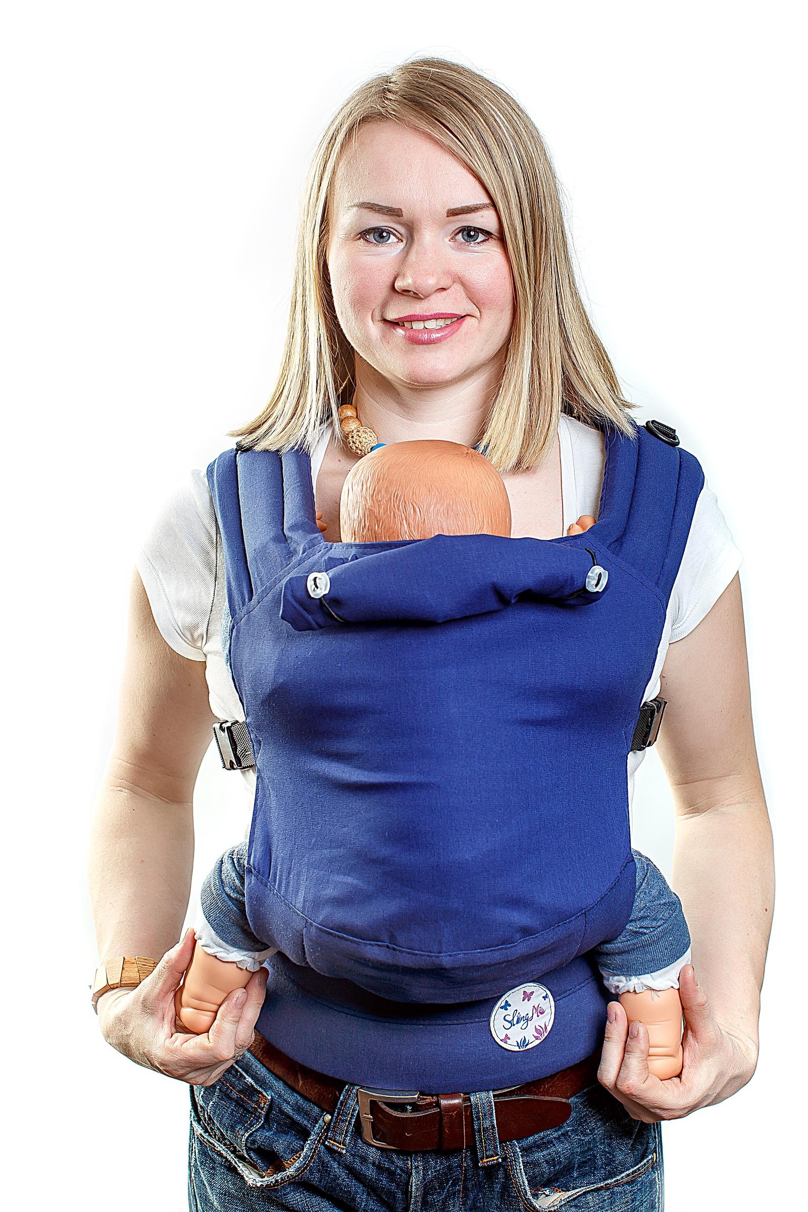 Рюкзак-переноска SlingMe Blue синий chicco рюкзак переноска myamaki complete denim cyclamen