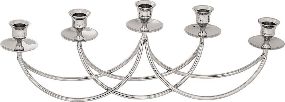 цена на Подсвечник Lefard, на 5 свечей, 726-130, серебристый, 41 х 7,5 х 16 см