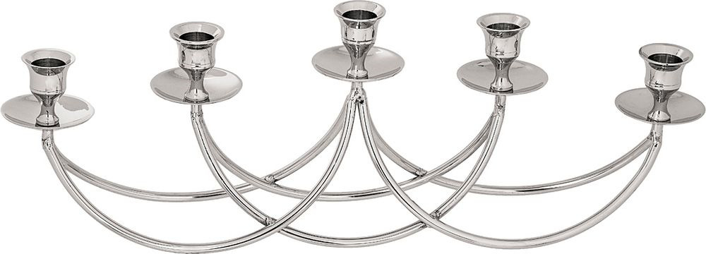 Подсвечник Lefard, на 5 свечей, 726-130, серебристый, 41 х 7,5 х 16 см цены онлайн