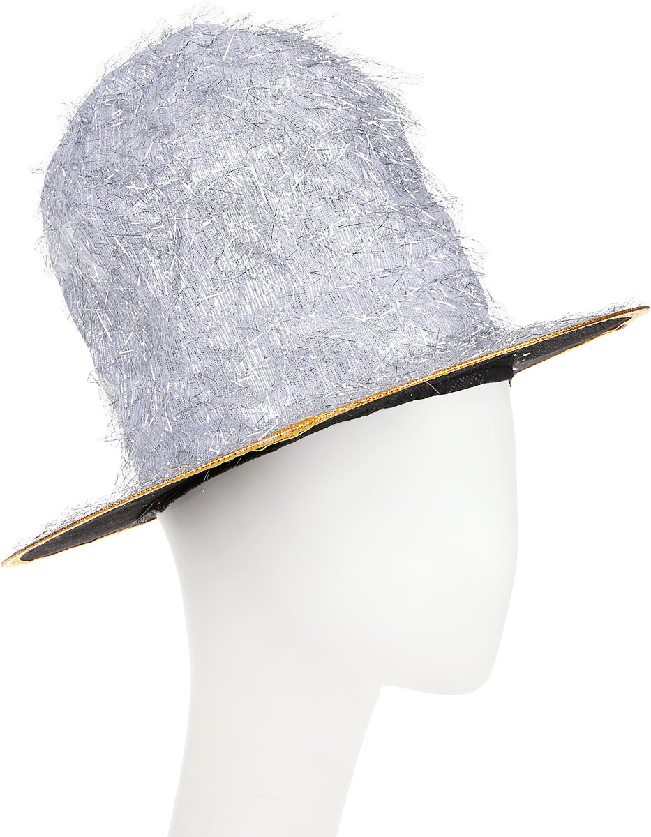 Шляпа карнавальная Partymania Цилиндр клоуна, T1229, серый