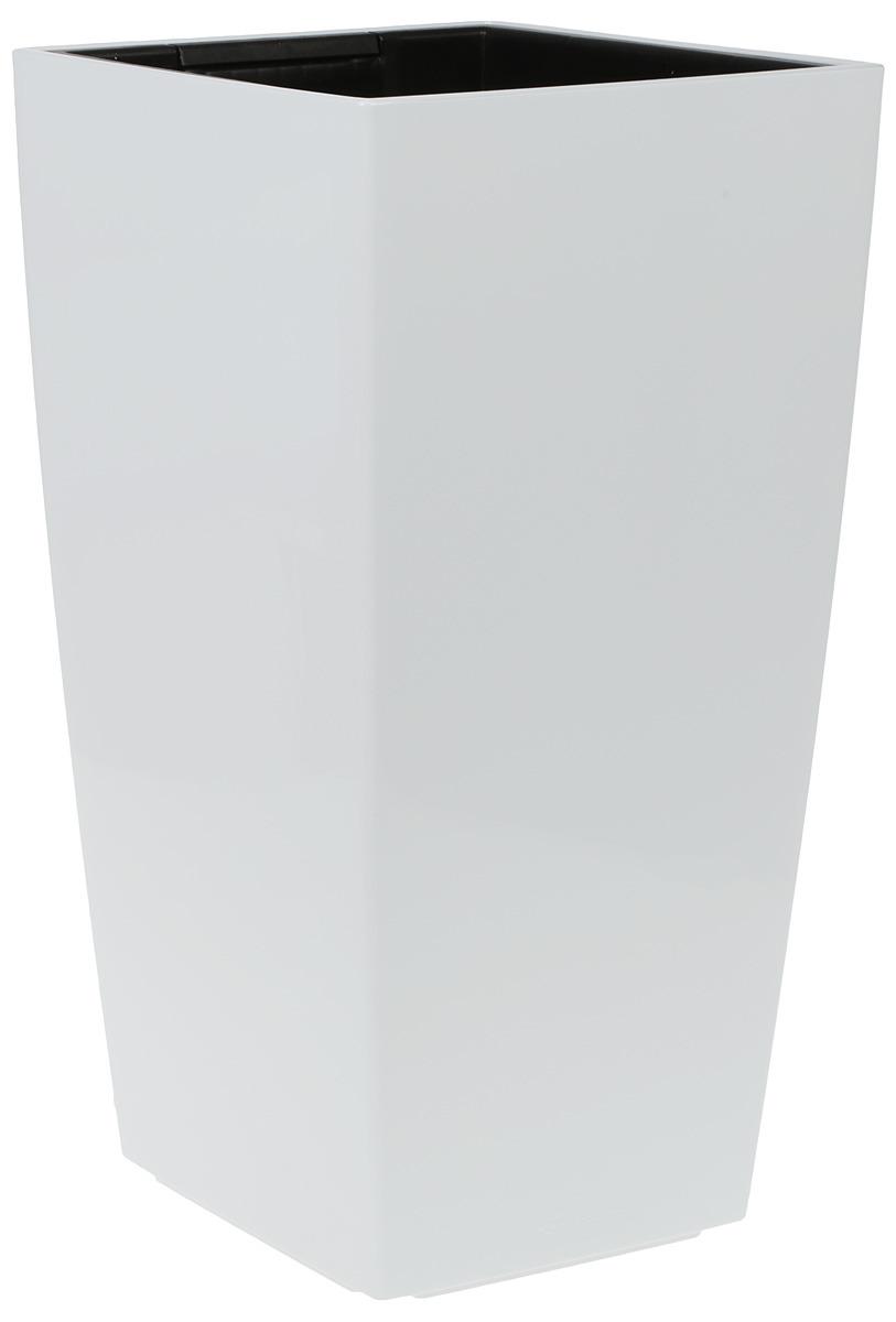 Кашпо Lechuza Cubico Complete, 4008789182128, warm ice, 30 х 30 х 56 см green garden кашпо teak s
