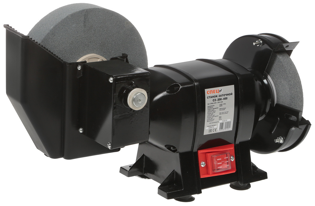 Заточной станок Спец СЗ-200-400, СПЕЦ-3259, черный электроточило спец с3 150 спец 3221